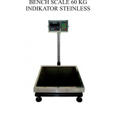 BENCH SCALE 60 KG INDIKATOR STAINLESS
