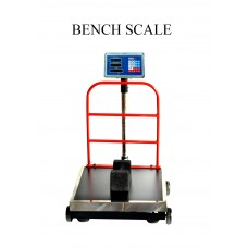 BENCH SCALE 150 KG , INDIKATOR DOUBLE DISPLAY, ACCU KERING, RODA