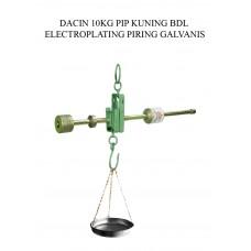 TIMBANGAN DACIN 10 KG PIP KUNING BDL ELECTROPLATING PIRING GALVANIS