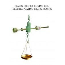 TIMBANGAN DACIN 10 KG PIP KUNING BDL ELECTROPLATING PIRING KUNING