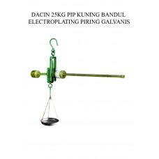 TIMBANGAN DACIN 25 KG PIP KUNING BDL ELECTROPLATING PRG GALVANIS