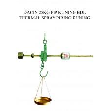 TIMBANGAN DACIN 25 KG PIP KUNING BDL THERMAL SPRAY PIRING KUNING