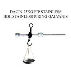 TIMBANGAN DACIN 25 KG PIP STAINLESS BDL STAINLESS PIRING GALVANIS