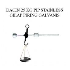 TIMBANGAN DACIN 25 KG PIP STAINLESS GILAP PRG GALVANIS