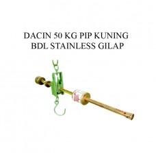 TIMBANGAN DACIN 50 KG PIP KUNING BDL STAINLESS GILAP