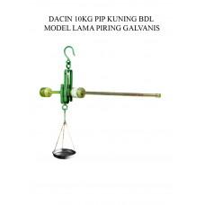 TIMBANGAN DACIN 10 KG PIP KUNING BDL MODEL LAMA PRG GALVANIS