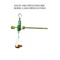 TIMBANGAN DACIN 10 KG PIP KUNING BDL MODEL LAMA PIRING KUNINGAN